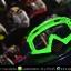 แว่นวิบาก (Goggle) สีพื้นเขียว (ปลายจมูกแหลม) เลนส์สีใส thumbnail 1