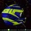 หมวกกันน็อคReal รุ่นHornet-Virago สีน้ำเงินเหลืองเขียวด้าน thumbnail 5