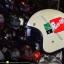 หมวกกันน็อคคลาสสิก 5เป๊ก (มีแว่น) สี Ride Up ครีม thumbnail 3