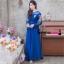 ชุดออกงานยาว/ชุดไปงานแต่งงานสีน้ำเงินกรมท่า สไตล์ผู้ใหญ่