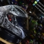 หมวกกันน็อคMT Revenge Skull & Roses - Matt Grey / Black thumbnail 1