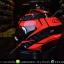 หมวกกันน็อคReal รุ่นHornet-Virago สีดำแดง thumbnail 4