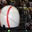 หมวกกันน็อคคลาสสิก 5เป๊ก สีขาวมุก(คาดแดง) thumbnail 3