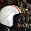 หมวกกันน็อคคลาสสิก 5เป๊ก สีขาวมุก(คาดแดง) thumbnail 2