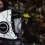 หมวกกันน็อคคลาสสิก 5เป๊ก (มีแว่น) สี Nasa Black-White thumbnail 1