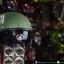 หมวกกันน็อคคลาสสิก 5เป๊ก (มีแว่น) สี MotorOil/Green thumbnail 2