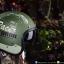 หมวกกันน็อคคลาสสิก 5เป๊ก (มีแว่น) สี MotorOil/Green thumbnail 1