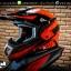 หมวกกันน็อคReal วิบาก รุ่น Rockdale Crew สี Black Red Fluo thumbnail 2
