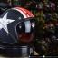 หมวกกันน็อคคลาสสิก 5เป๊ก (มีแว่น) สี Star Dust ดำด้าน thumbnail 1