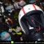 หมวกกันน็อคคลาสสิก 5เป๊ก สีขาวมุก(คาดแดง) thumbnail 1