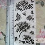 YM-X240 สติ๊กเกอร์ลายสัก tattoo ลายดอกไม้ 18 x 7 cm