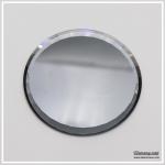 แผ่นที่วางโชว์ลายเล็บ PV-07 กระจกสีเทา เจียรขอบเหลี่ยม รัศมีขนาด 7 เซนติเมตร