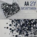เพชรชวาAA สีกรมท่า MONTANA รหัส AA-27 คละขนาด ss3 ถึง ss30 ปริมาณประมาณ 1300-1500เม็ด
