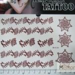 YM-K104 สติ๊กเกอร์สักแฟชั่น sticker tattoo ลายดอก 15.5x10.8 cm