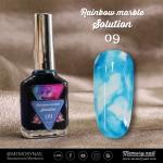 น้ำยาหินอ่อน Rainbow marble Solution รหัส 09 สีฟ้า