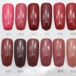 สีทาเล็บเจล EN.OU ยกเซ็ต 12ขวด สีโทนแดงอมชมพูน้ำตาล MARTHA RED