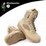 รองเท้าหนัง DELTA ข้อยาว (สีทราย) เบอร์ EUR 39 เทียบ US 6.5 (245 มม.)