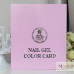 กล่องโชว์ตัวอย่างสี เล็ก Nail Gel Color Card สีชมพู