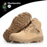 รองเท้าหนัง DELTA ข้อสั้น (สีทราย) เบอร์ EUR 41 เทียบ US 8 (260 มม.)