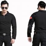 เสื้อ combat suit รุ่น C-007 สีดำ