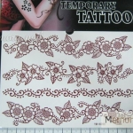 YM-K099 สติ๊กเกอร์สักแฟชั่น sticker tattoo ลายดอก 15.5x10.8 cm