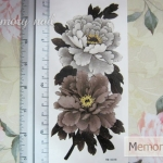 YM-X226 สติ๊กเกอร์ลายสัก tattoo ลายดอกไม้ 18 x 7 cm