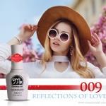 สีเจลทาเล็บ Memory nail รหัส 009 Reflections of love สีชมพูเข้มอมแดงผสมชิมเมอร์