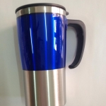 แก้วน้ำสแตนเลส สีน้ำเงิน เก็บความร้อน ความเย็น