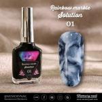 น้ำยาหินอ่อน Rainbow marble Solution รหัส 01 สีดำ