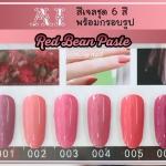 สีเจล AI ชุด Red Bean Paste มี 6ขวด โทนสีชมพู ชมพูเนื้อ พร้อมแถมกรอบรูปในชุด