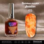 น้ำยาหินอ่อน Rainbow marble Solution รหัส 03 สีส้ม