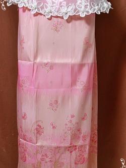 ผ้าถุงสำเร็จlสีชมพู เอว 38  nsk166-1
