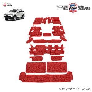 พรมดักฝุ่นไวนิล รถ Mitsubishi Pajero Sport ปี 2008-2015 ชุดปูเต็มคัน จำนวน 19 ชิ้น