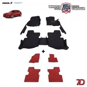 พรมรถยนต์ 7 D Anti Dust รถ MAZDA 3 SKYACTIV 4-5 DOOR ปี 2014-2017 จำนวน 3+4 ชิ้น