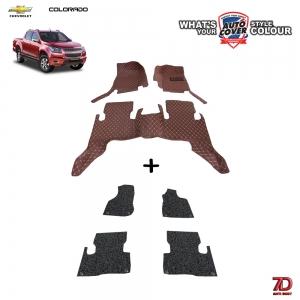 พรมเข้ารูป 7 D Anti Dust รถ CHEVROLET COLORADO 4 DOOR ปี 2013-2018 จำนวน 3+4 ชิ้น