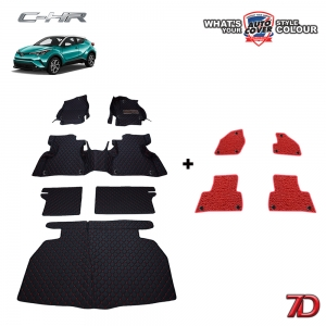 พรมรถยนต์ 7 D Anti Dust รถ TOYOTA CHR ชุดเต็มคัน จำนวน 6+4 ชิ้น รวมแผ่นท้ายและหลังพนักพิง