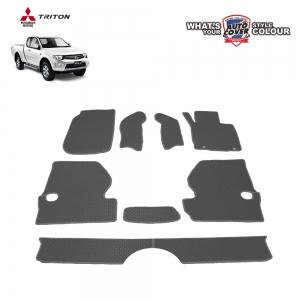 พรมกระดุม Super Save รถ Mitsubishi Triton Cab ปี 2006-2014 ชุด Full จำนวน 8 ชิ้น