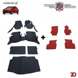 พรมรถยนต์ 7 D Anti Dust รถ MAZDA 2 SKYACTIV 5 DOOR ปี 2015-2019 จำนวน 6 + 4 ชิ้น