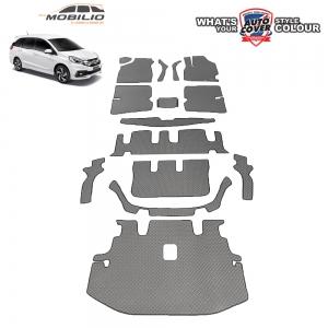 พรมกระดุม Super Save รถ Honda Mobilio ชุด All Full จำนวน 15 ชิ้น รวมแผ่นท้ายและหลังพนักพิง