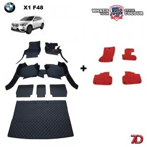 พรมรถยนต์ 7 D Anti Dust รถ BMW X1 (F48) MY.2017-2020 จำนวน 7 + 4 ชิ้น