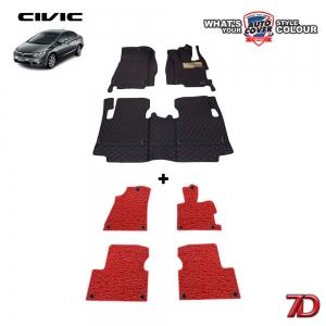 พรมรถยนต์ 7 D Anti Dust รถ HONDA CIVIC (FB) 2013-2016 จำนวน 3+4 ชิ้น