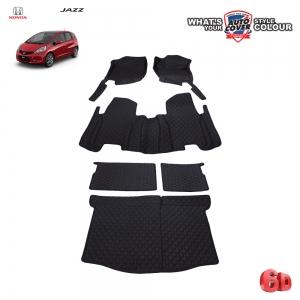 พรมเข้ารูป 6 D Leather Car Mat จำนวน 6 ชิ้น HONDA JAZZ (GE) 2008-2013