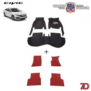 พรมรถยนต์ 7 D Anti Dust รถ HONDA ALL NEW CIVIC (FC) 2016-2020