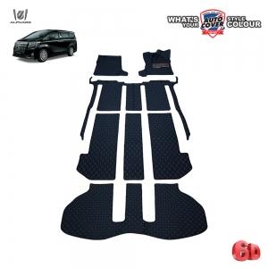 พรมรถยนต์ 6D Leather Car Mat รถ TOYOTA ALL NEW ALPHARD ชุดเต็มคันรวมท้าย จำนวน 7 ชิ้น