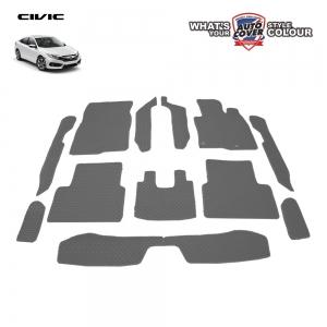 พรมกระดุม Super Save ชุด Full จำนวน 12 ชิ้น Honda All New Civic FC 2016-2020