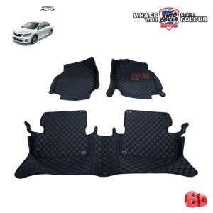 พรมเข้ารูป 6 D Leather Car Mat จำนวน 3 ชิ้น TOYOTA ALTIS ปี 2008-2013