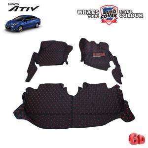 พรมรถยนต์ 6D Leather Car Mat รถ TOYOTA ALL NEW YARIS 5 Door & ATIV 4 Door ปี 2018-2020 จำนวน 3 ชิ้น