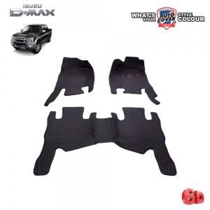 พรมเข้ารูป 6 D Leather Car Mat จำนวน 3 ชิ้น ISUZU DMAX 4 DOOR 2003-2012