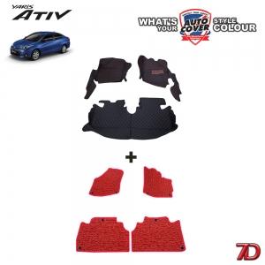 พรมรถยนต์ 7 D Anti Dust รถ TOYOTA ALL NEW YARIS 5 Door & ATIV 4 Door ปี 2018-2020 จำนวน 3+4 ชิ้น