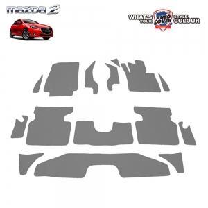 พรมกระดุม Super Save รถ MAZDA 2 Skyactiv 4-5 Door ปี 2015-2019 ชุด Full จำนวน 15 ชิ้น